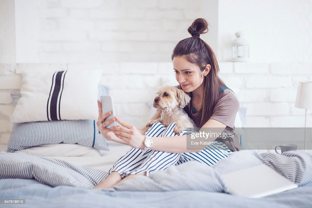 Pretty woman at home : Stock Photo