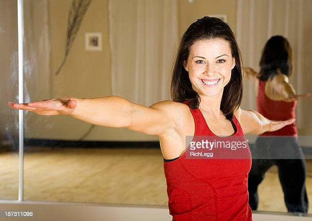 pretty woman doing yoga - rich_legg stock photos and pictures