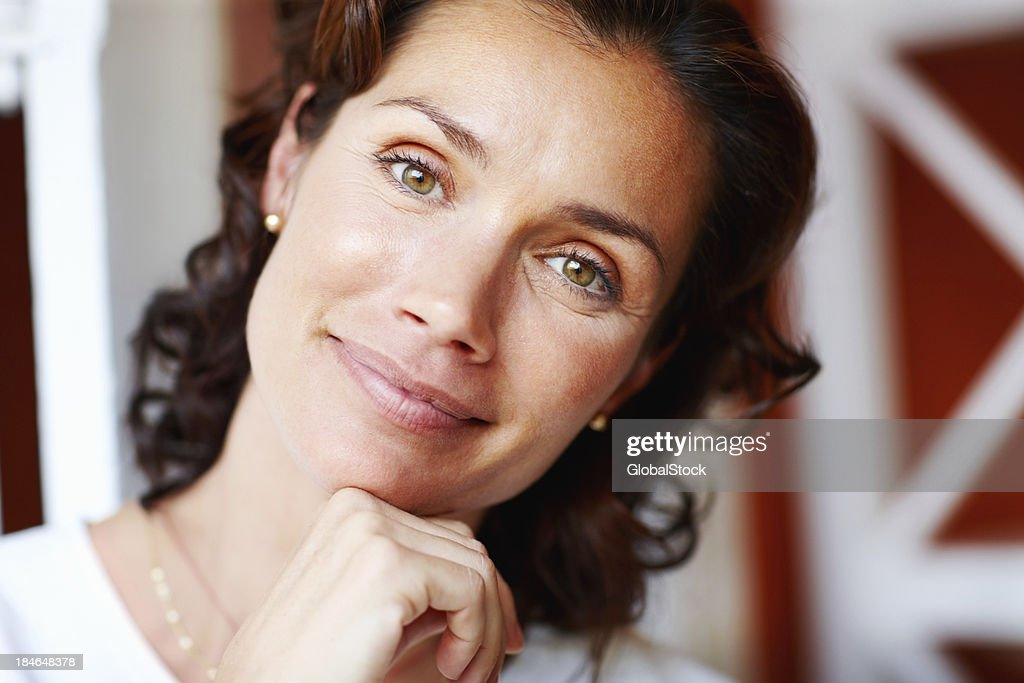 Pretty woman with an attractive smile : Stock Photo