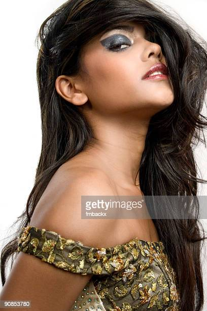 pretty woman with beautiful black hair - black hairy women stock pictures, royalty-free photos & images