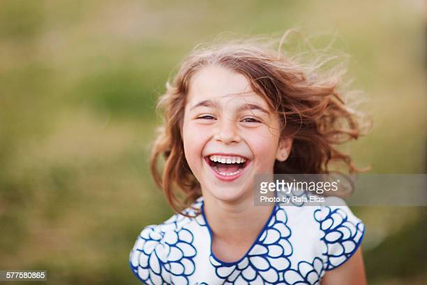 Pretty young girl laughing