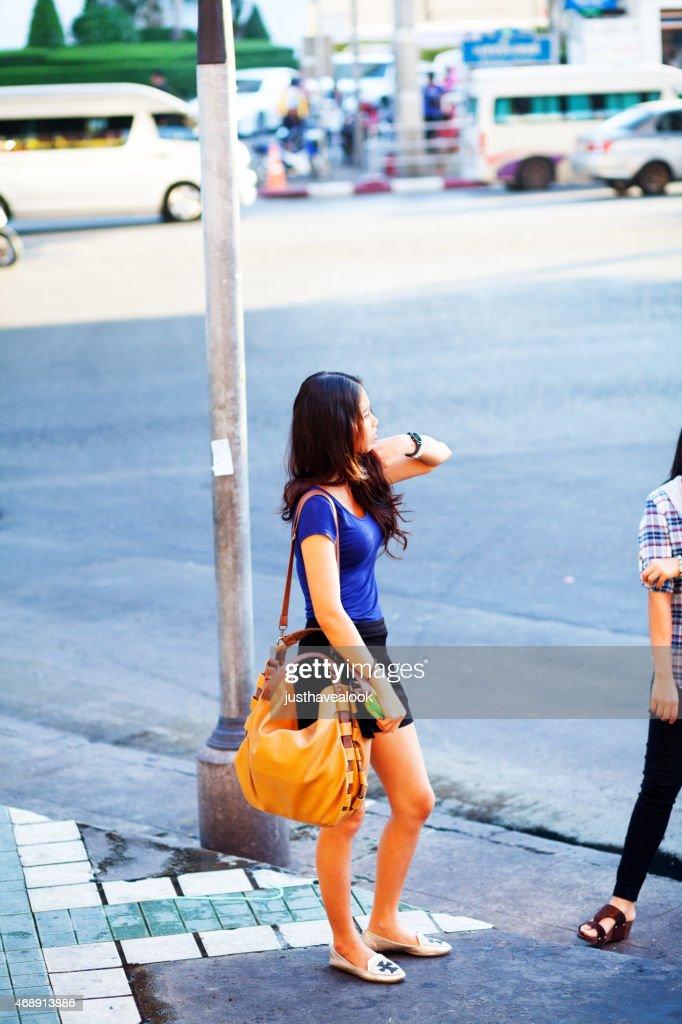 Hübsche Junge Mädchen In Bangkok Bangkapi Thai Stock-Foto