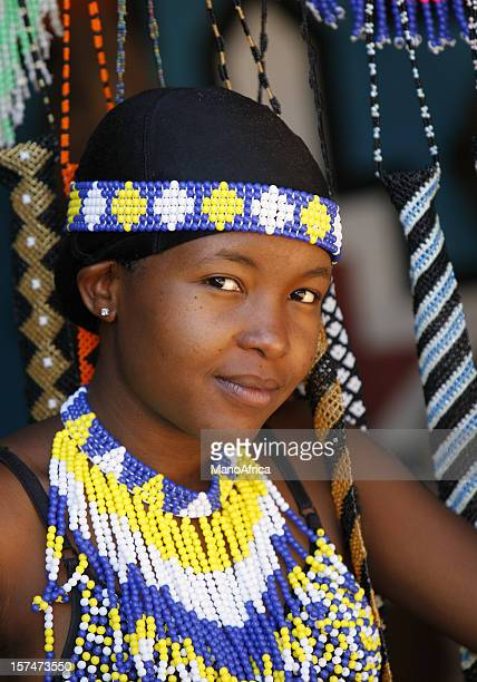 pretty young zulu woman - zulu women stock pictures, royalty-free photos & images