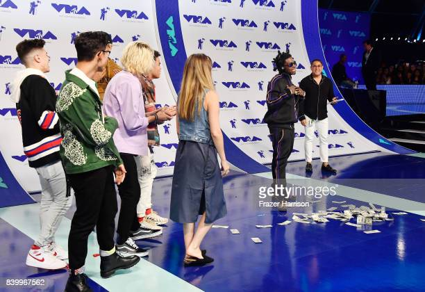 PrettyMuch and Kodak Black attend the 2017 MTV Video Music Awards at The Forum on August 27 2017 in Inglewood California