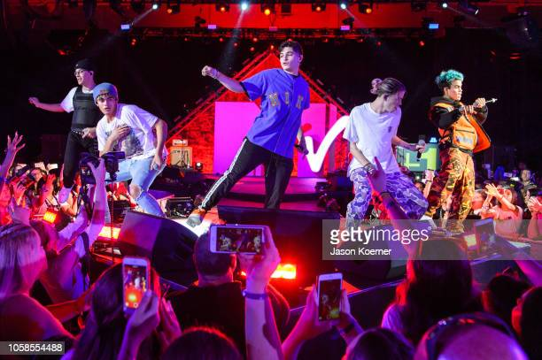 Prettymuch perform on stage at the MTV 1 The Vote 'Election Afterparty' at Miami Dade College on November 6 2018 in Miami Florida