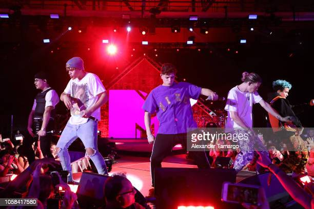 Prettymuch performs live at MTV 1 The Vote 'Election Afterparty' on November 6 2018 in Miami Florida