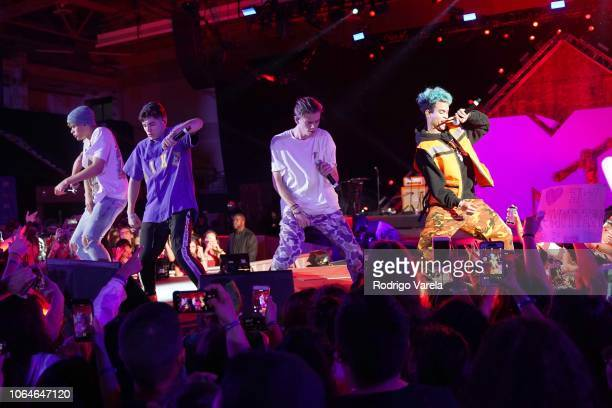 Prettymuch performs live at MTV 1 The Vote 'Election Afterparty'on stage at the MTV 1 The Vote 'Election Afterparty' at Miami Dade College on...