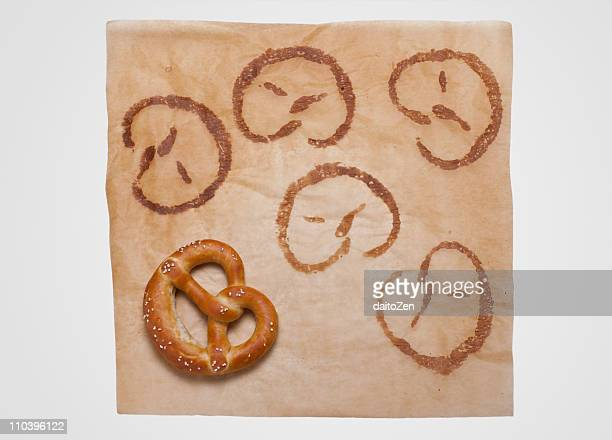 Pretzel on baking paper