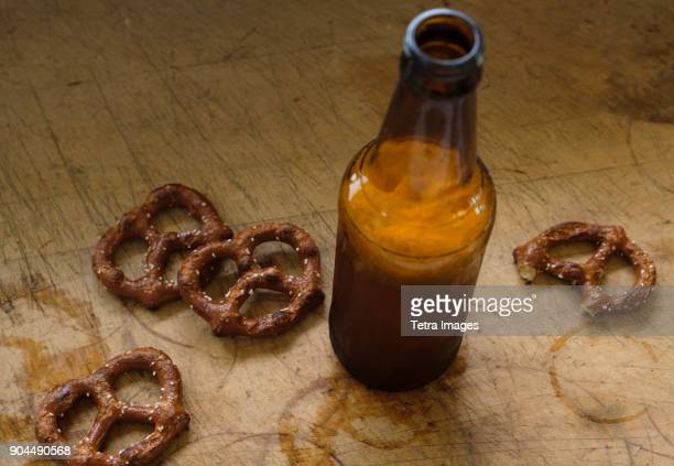 pretzels with beer - imperfection stock pictures, royalty-free photos & images