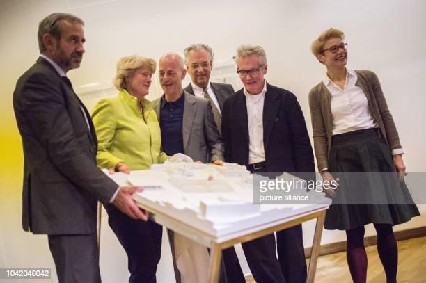 Preussen Foundation President Hermann Parzinger State Minister of Culture Monika Gruetters architect Jacques Herzog architect Arno Lederer General...
