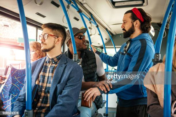 Prevention of crime in public bus by undercover policeman