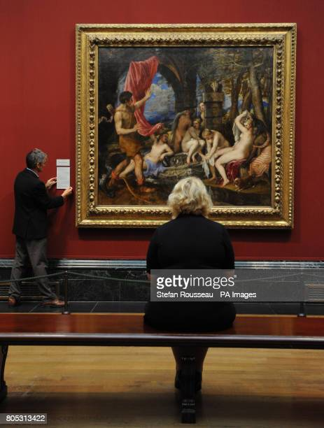 Preview for Titian's Diana and Actaeon before it goes on display at the National Gallery for the first time since it was saved for the nation The...