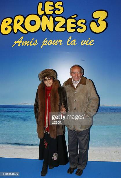 Preview Of Les Bronzes 3 In Paris France On January 23 2006Nadine Trintignant and Alain Corneau