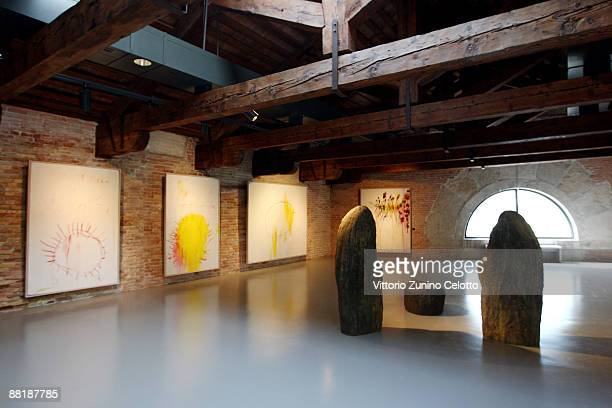 Preview of 'Mapping The Studio' during the press preview of the opening of the new contemporary art centre Francois Pinault Foundation at Punta della...