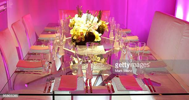 A preview of the food and decor of the 78th Academy Awards Governors Ball at the Governors Ballroom February 16 2006 in Hollywood California