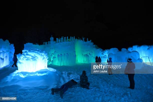 A preview of the Ice Castle at Dillon Town Park on December 26 2017 in Dillon Colorado before its officially opened later in the week The acresized...