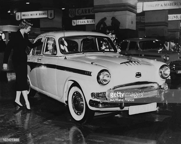 Preview Of The New Austin Luxury During Motor Show At Earls Court In England On October 16Th 1956