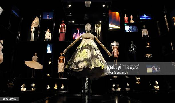 Preview photocall for the Alexander McQueen Savage Beauty exhibition at Victoria Albert Museum on March 12 2015 in London England