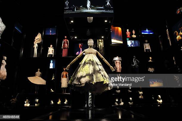 Preview photocall for the 'Alexander McQueen Savage Beauty' exhibition at Victoria Albert Museum on March 12 2015 in London England