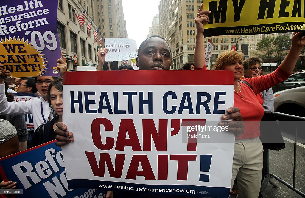 Activists Rally For Health Care Insurance Reform : News Photo