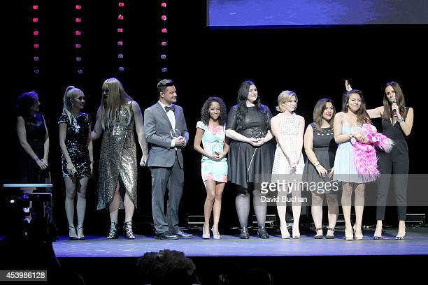 Previous winner Charis Lincoln cohosts Amy Pham and P'Trique finalists Alex Rivera Kennedy Bailey Van Der Veen Erin Timony Ashley Marie Adelaine...