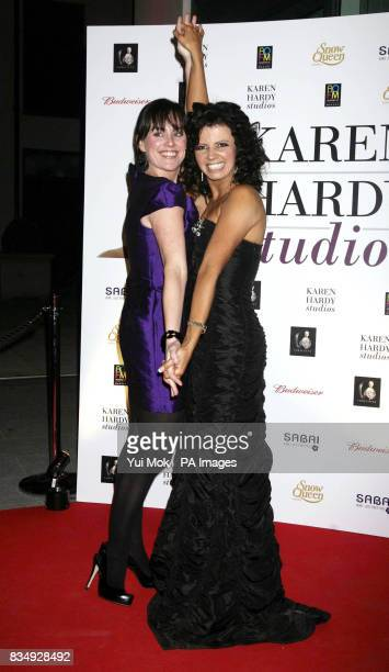Previous winner of Strictly Come Dancing Jill Halfpenny with Karen Hardy at the opening of Hardy's dance studios at Imperial Wharf in Fulham London