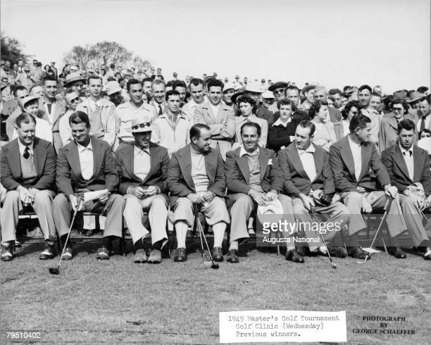 Previous Winners At The Golf Clinic Of The 1949 Masters Tournament