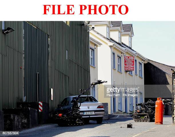Previously unreleased photo of the Army defusing a car bomb outside Newtownhamilton police station in County Armagh on April 13 2010 Three people...