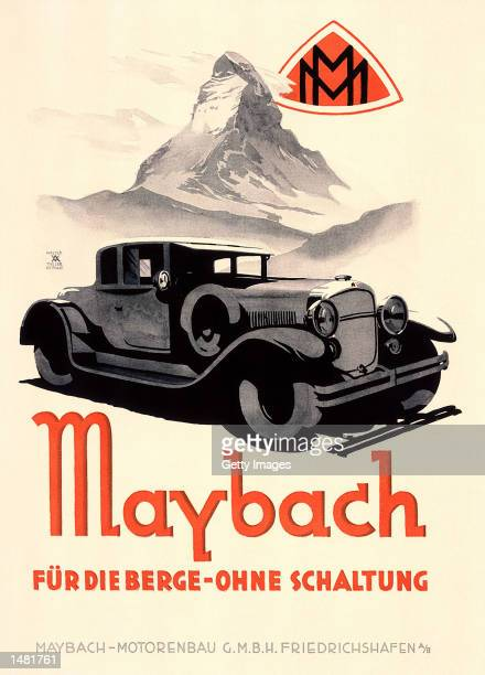 A preWorld War II poster advertises the original Maybach luxury car brand in this undated file photo DaimlerChrysler has relaunched the Maybach brand...