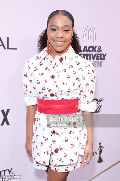 Priah Ferguson attends the 2020 13th Annual ESSENCE Black Women in Hollywood Luncheon at Beverly Wilshire A Four Seasons Hotel on February 06 2020 in...