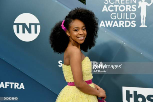 Priah Ferguson attends the 26th Annual Screen ActorsGuild Awards at The Shrine Auditorium on January 19 2020 in Los Angeles California