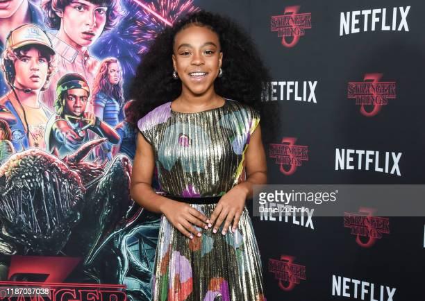 Priah Ferguson attends the New York Screening of Stranger Things Season 3 at DGA Theater on November 11 2019 in New York City