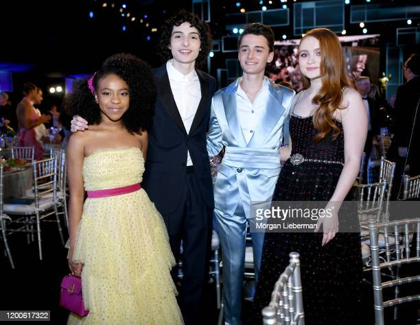 Priah Ferguson Finn Wolfhard Noah Schnapp and Sadie Sink attend the 26th Annual Screen Actors Guild Awards at The Shrine Auditorium on January 19...