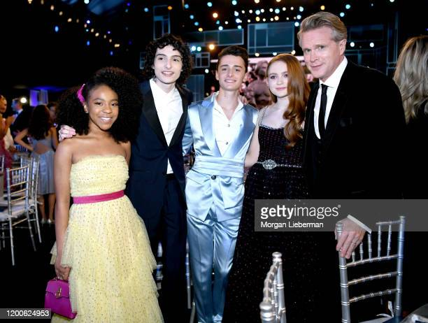 Priah Ferguson Finn Wolfhard Noah Schnapp Sadie Sink and Cary Elwes attend the 26th Annual Screen Actors Guild Awards at The Shrine Auditorium on...