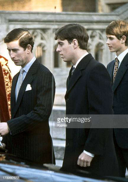 Price Charles with his brothers Prince Andrew and Prince Edward circa 1980