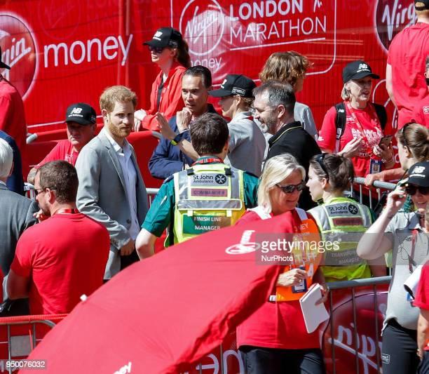 Price Harry attends the Virgin Money London Marathon in London England on April 22 2018