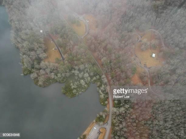 price lake aerial - diablo lake fotografías e imágenes de stock