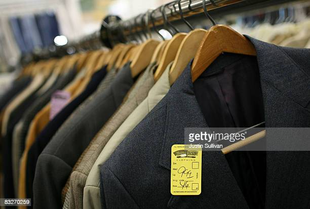 A price tag is seen on a suit jacket at a Thrift Town thrift store October 14 2008 in San Francisco California As the economy continues to falter...