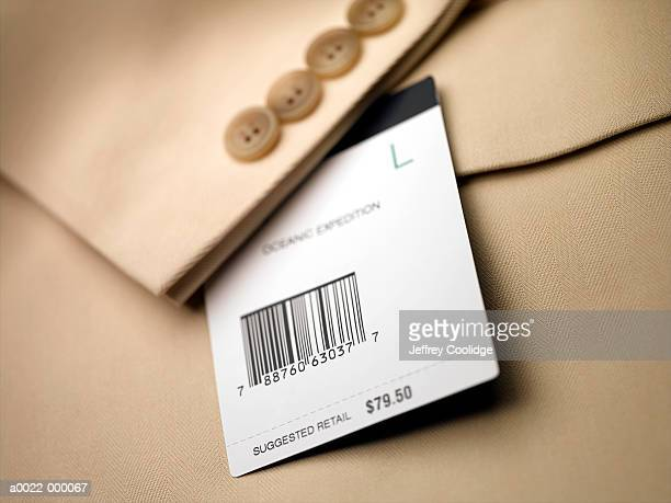 Price Tag on Jacket