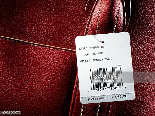 Price Tag on Leather Handbag