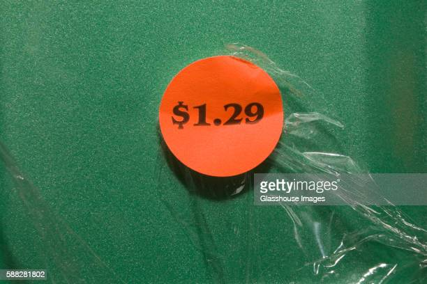 $1.29 price tag sticker - price tag stock pictures, royalty-free photos & images