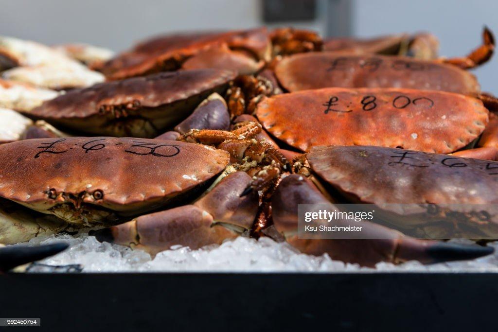 Priced crabs : Stock Photo