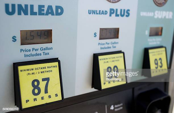 Prices are displayed on a fuel pump at a Go Mart Inc gas station in Rockbridge Ohio US on Saturday Feb 6 2016 Thanks to a glut of oil that has...