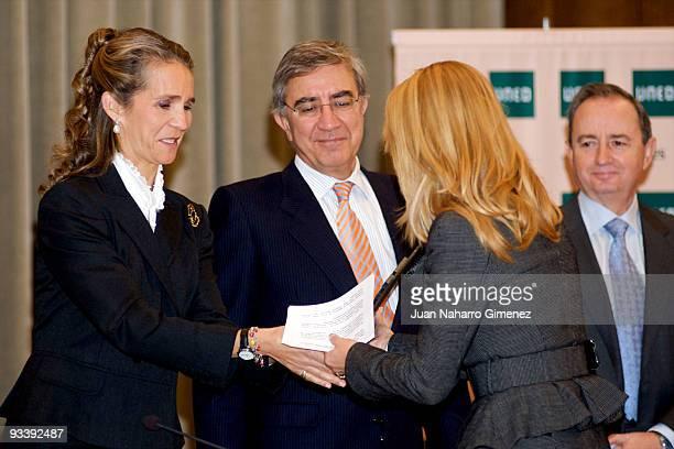 Pricess Elena attends the 'IV Universidad Empresa' awards on November 25 2009 in Madrid Spain