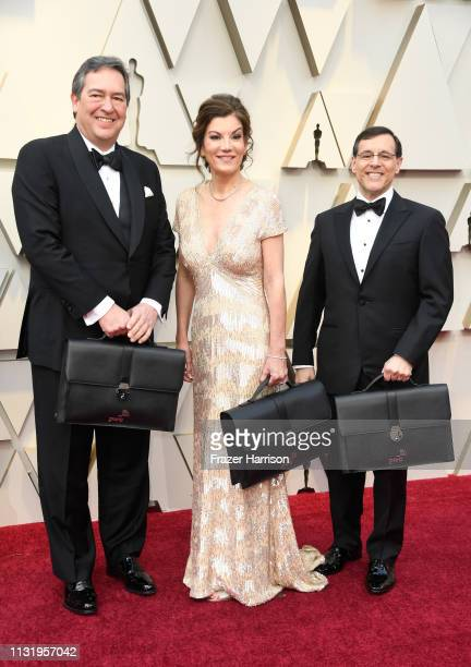 PricewaterhouseCooper representatives carrying the awards envelopes arrive to the 91st Annual Academy Awards at Hollywood and Highland on February 24...
