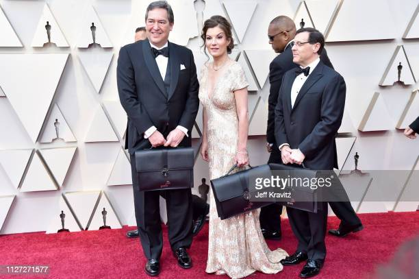 PricewaterhouseCoopers representatives attend the 91st Annual Academy Awards at Hollywood and Highland on February 24 2019 in Hollywood California