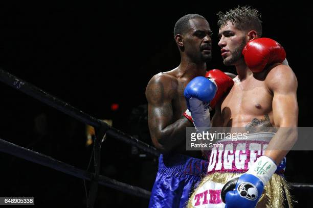 Prichard Colon is and Terrel Williams embrace after their super welterweights bout at EagleBank Arena on the campus of George Mason University on...