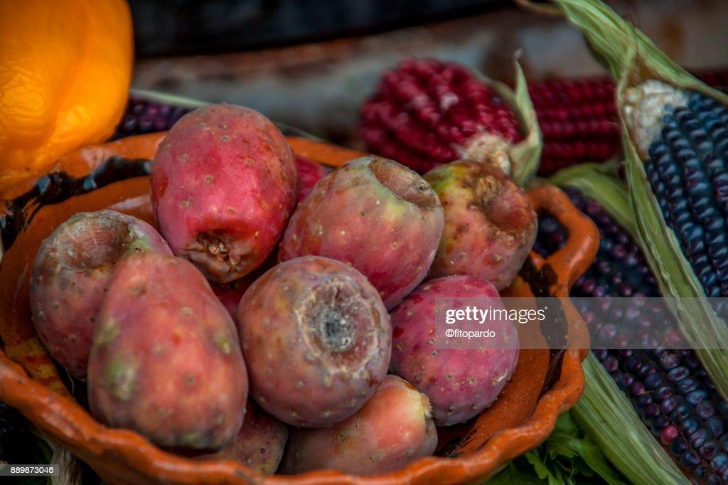 Prickly pear or Xoconostle : Stock Photo