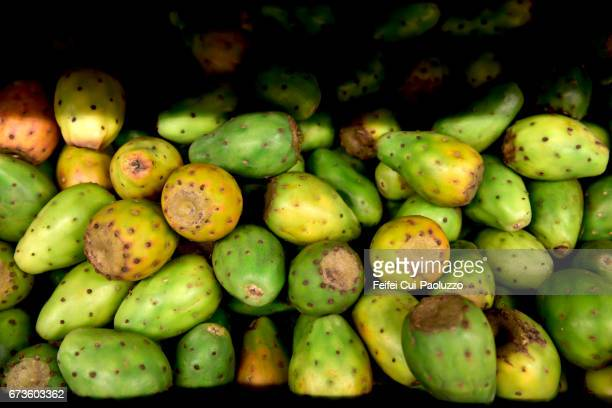 Prickly pears for sale at Valdivia, Chile
