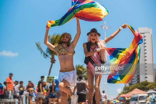 evento di orgoglio lgbtqi a recife, pernambuco, brasile - drag queen foto e immagini stock